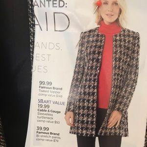 New jacket tweed topper